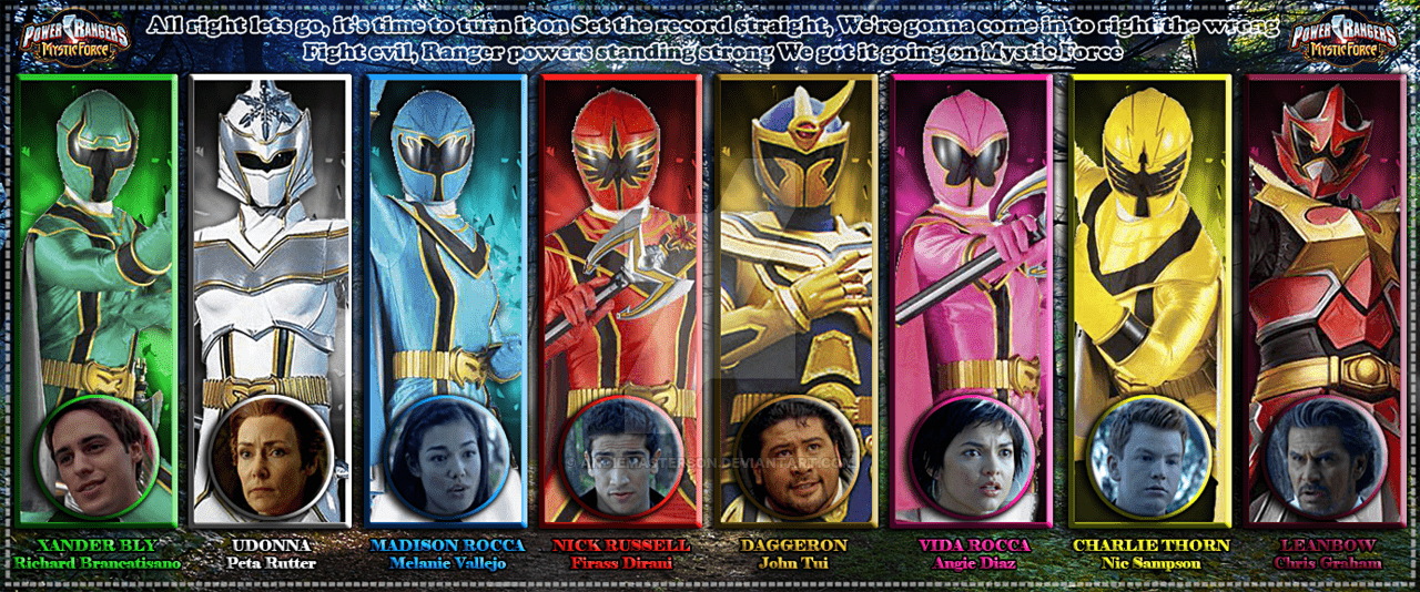 Power Rangers Mystic Force 5