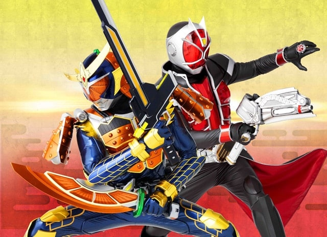 640full Kamen Rider × Kamen Rider Gaim & Wizard The Fateful Sengoku Movie Battle Poster