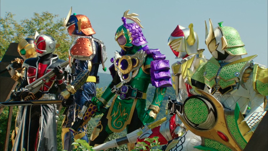 Kamen Rider X Kamen Rider Gaim & Wizard The Fated Sengoku Movie Battle