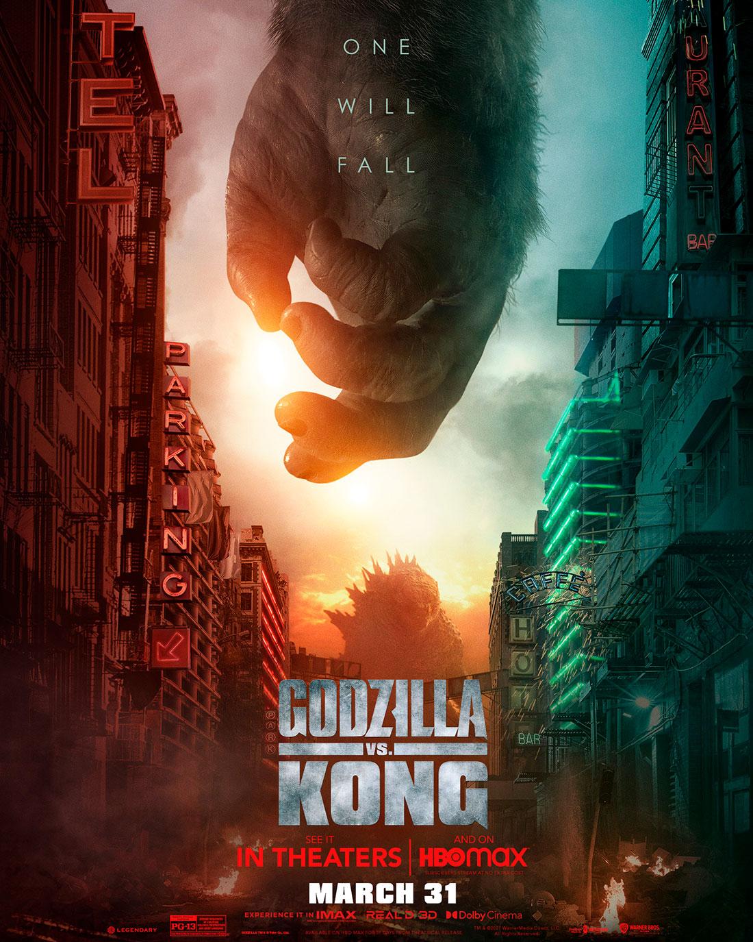 Godzilla Vs Kong Movie Poster King Kong