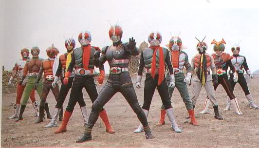 11 Kamen Riders (1 Black)