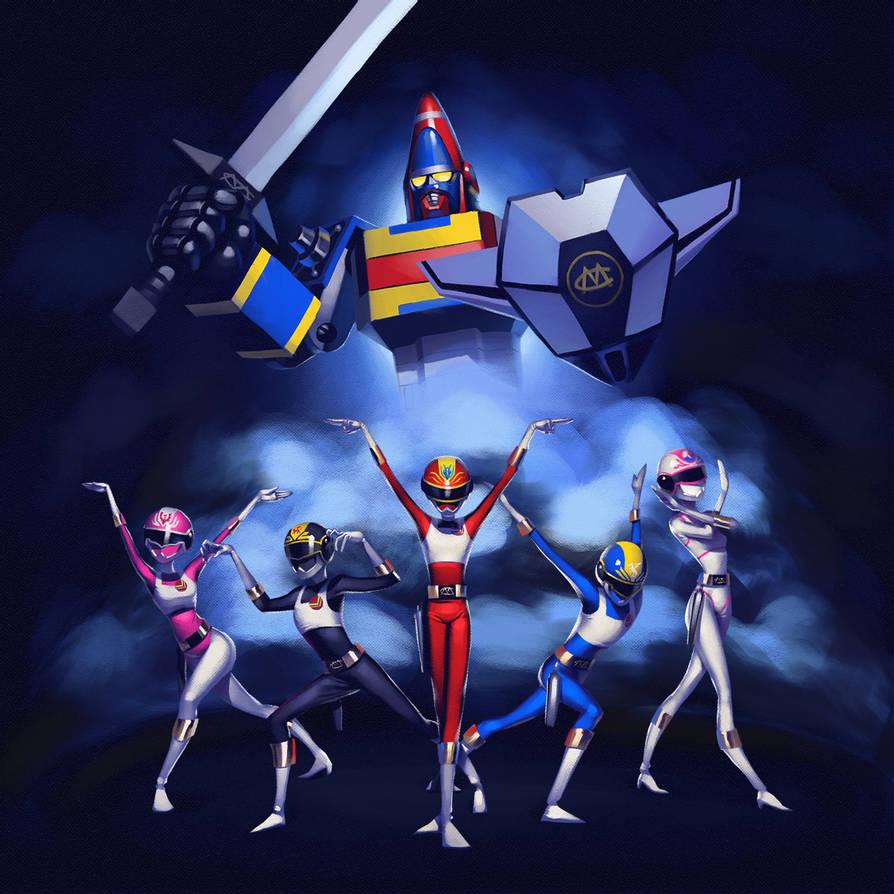 Dengeki Sentai Changeman By Lenadrofranci Da9gznn Pre